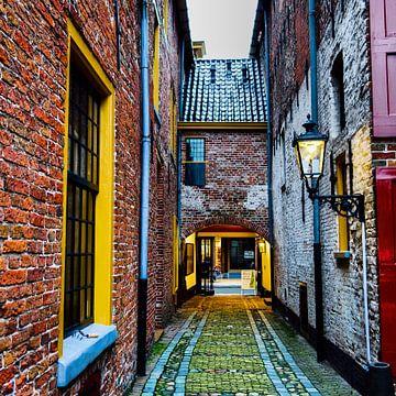 Scheepvaartmuseum steegje van Groningen Stad