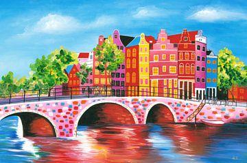 Schilderij Amsterdam 2 sur Kunst Company