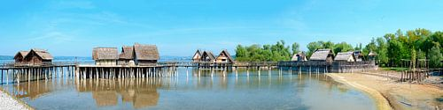 pile dwellings on lake Constance van Leopold Brix