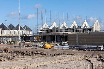 bouwplaats nieuwbouwwoningen van Martin Hulsman