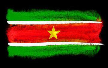 Symbolische nationale vlag van Suriname van Achim Prill