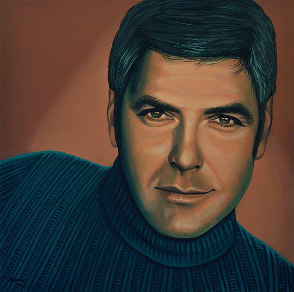 George Clooney Painting von Paul Meijering
