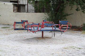 Speeltoestel in speeltuin in Griekenland