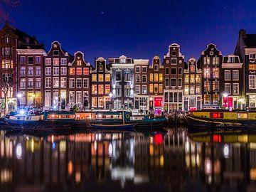 Amsterdamer Grachten und Hausboote von Ramon Lucas