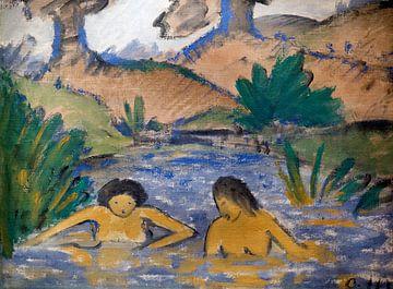 Zwei badende Mädchen, Otto Mueller - 1917 von Atelier Liesjes