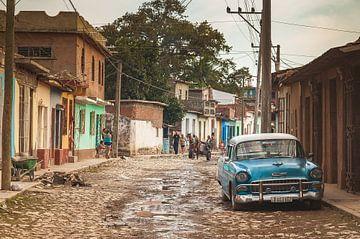 Cobbled streets of Trinidad, Cuba van Andreas Jansen