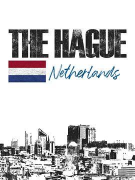Den Haag Nederland van Printed Artings