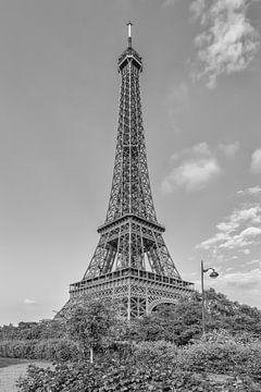 Idyll in het midden van Parijs | monochroom van