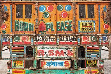 Rückansicht des indischen Trucks von Tjeerd Kruse
