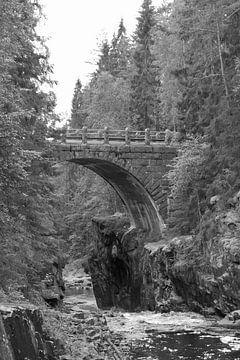 Oude brug (zwart/wit) van Jeanine den Engelsman