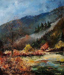 Fluss im Herbst von pol ledent