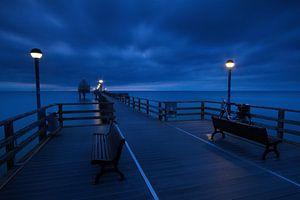 Nachts auf der Seebrücke