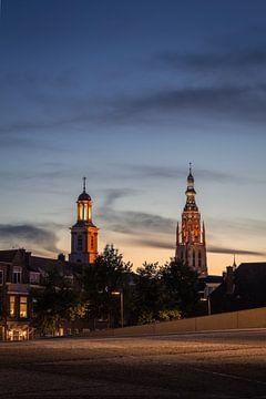 Breda Sonnenuntergang Großes Kirchenzentrum von Andre Gerbens
