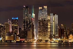 New York    Nachtaufnahme van