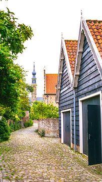 Eine alte mittelalterliche Zufahrtsstraße und Straße zur seeländischen Stadt Veere von Visiting The Dutch Countryside