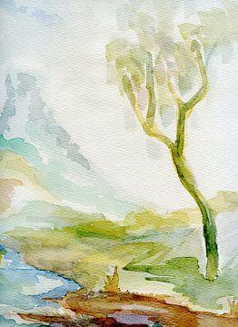 einzelner Baum von Claudia Gründler