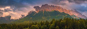 Panorama van de Beierse Alpen van Henk Meijer Photography