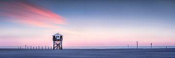 Pfahlbauten am Strand von St. Peter Ording an der Nordsee von Voss Fine Art Photography