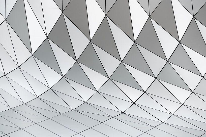 Patroon abstracte geometrische vormen van Origami Art