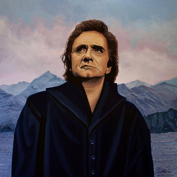 Johnny Cash schilderij van Paul Meijering