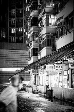Hongkong Schwarz-Weiß-Foto von Guido Pijper