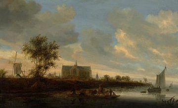 Grote of Sint-Laurenskerk vanuit het westen, Salomon van Ruysdael