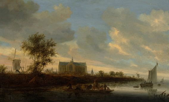 Grote of Sint-Laurenskerk vanuit het westen, Salomon van Ruysdael van Meesterlijcke Meesters