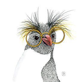 Nerdy Pinguin von Carmen de Bruijn