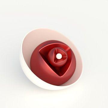 Rote Blüte, stilisiert sur Jörg Hausmann