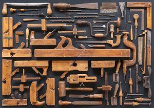 Sammlung Vintage Möbelmacher Werkzeuge