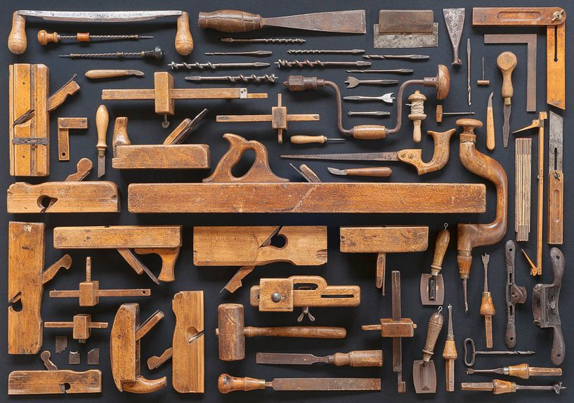 Sammlung Vintage Möbelmacher Werkzeuge von Floris Kok