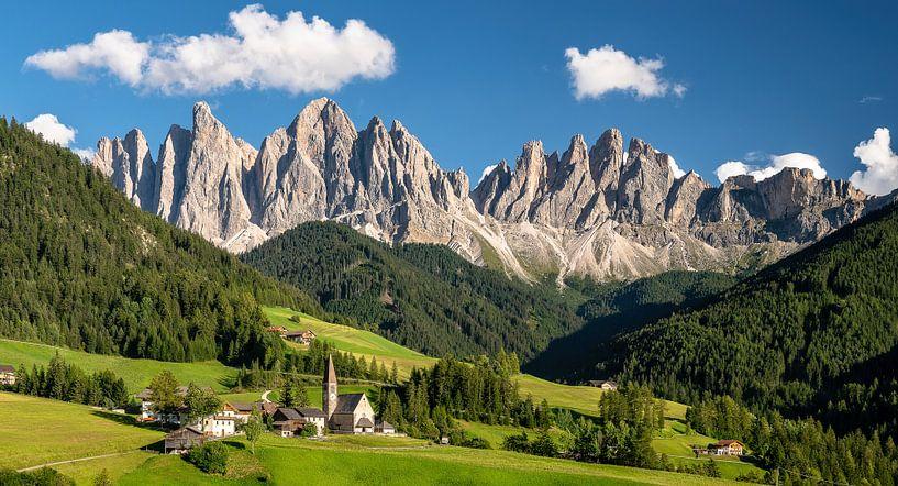 Poster Glasbild Villnösstal Südtirol Dolomiten Leinwandbild Achim Thomae