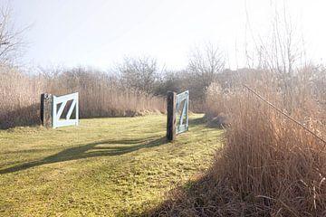 Open hekwerk voor naar natuurpark van Niek De Ridder