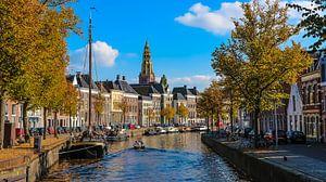 Herfstige Hoge der A in Groningen van Auke P.