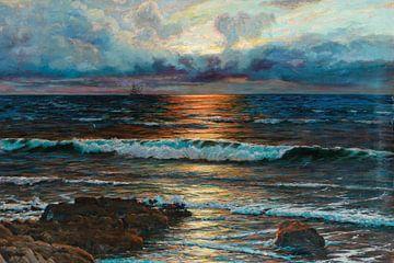 Sonnenuntergang am Meeresufer
