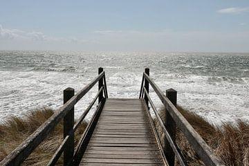 Prachtig uitzicht over zee van Wendy Hilberath