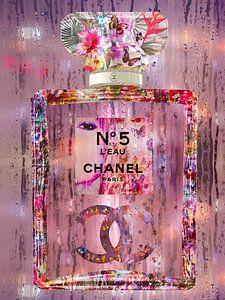 Kleurrijke kunst van een parfumfles