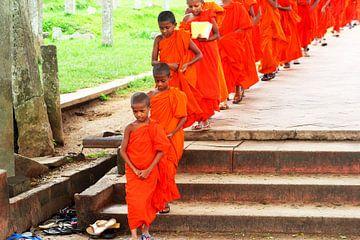 Monniken in heilige stad