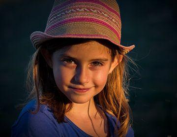 Portret meisje van Jellie van Althuis