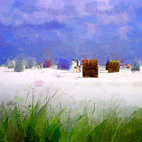 On the beach - 2021 von Andreas Wemmje