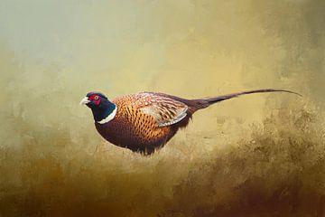 Fasan - Vögel Digitale Kunst von Diana van Tankeren