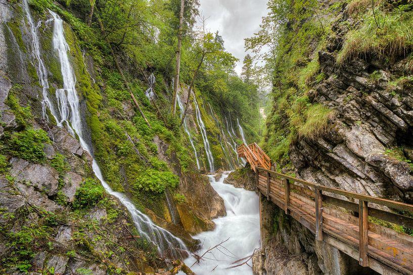 Wimbach gorge in Bavaria van Michael Valjak