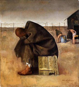Im Lager, Felix Nussbaum, 1940. von Atelier Liesjes