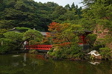 Tuin van Oya ji tempel bij Utsunomiya in Japan van Aagje de Jong