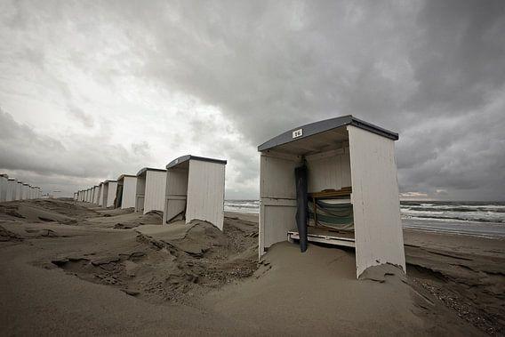 strandhuisjes katwijk van Dirk van Egmond