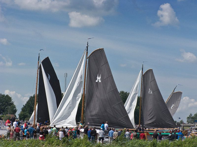 Skutsje Silen, De Veenhoop, Friesland van Rene van der Meer