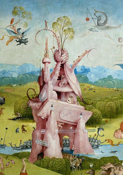 Jheronimus Bosch. Tuin der Lusten, detail van 1000 Schilderijen