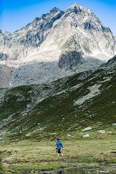 Randonnée dans les Alpes sur