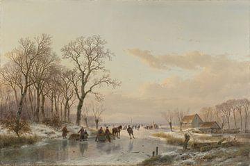 Een bevroren vaart bij de Maas van