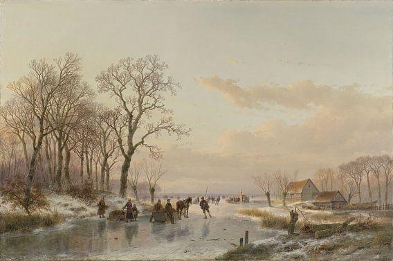 Een bevroren vaart bij de Maas
